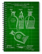 Flask Patent 1888 - Green Spiral Notebook