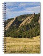 Flatirons With Golden Grass Boulder Colorado Spiral Notebook