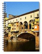 Florence Italy Ponte Vecchio Spiral Notebook