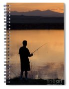 Fly Fishing At Sunset Spiral Notebook