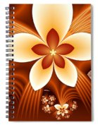 Fractal Fantasy Flowers Spiral Notebook