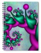 Fractal Neon Catwalk Spiral Notebook
