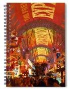 Fremont Street Experience Las Vegas Nv Spiral Notebook