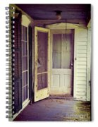 Front Door Of Abandoned House Spiral Notebook