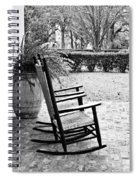 Front Porch Rockers - Bw Spiral Notebook