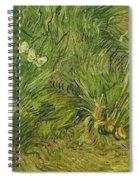Garden With Butterflies Spiral Notebook