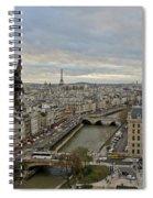 Gargoyle Overlooking Paris Spiral Notebook