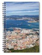 Gibraltar City And Bay Spiral Notebook