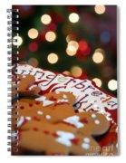 Gingerbread Cookies On Platter Spiral Notebook