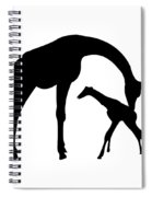 Giraffe In Black And White Spiral Notebook