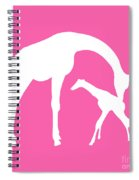 Giraffe In Pink And White Spiral Notebook