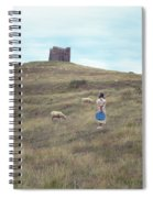 Girl With Sheeps Spiral Notebook
