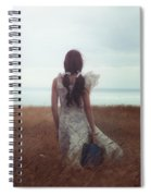 Girl With Suitcase Spiral Notebook