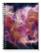Gladiola Nebula Triptych Spiral Notebook