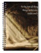 Glory Rays Spiral Notebook