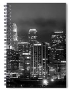 Gotham City - Los Angeles Skyline Downtown At Night Spiral Notebook