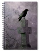 Surreal Crow In Gothic Purple Sky Spiral Notebook