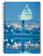 Government Building Lit Up At Night Spiral Notebook