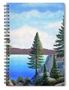 Granite Boulders Lake Tahoe Spiral Notebook