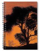 Gray Sky Sunset Spiral Notebook