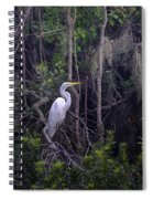 Lowcountry Marsh White Heron Spiral Notebook