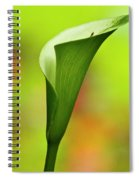 Green Calla Lily Spiral Notebook