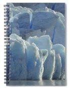 Grey Glacier In Chilean National Park Spiral Notebook