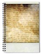 Grunge Newspaper Spiral Notebook