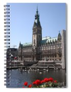 Hamburg - City Hall With Fleet - Germany Spiral Notebook