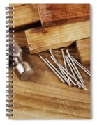 Hammer And Nails  Spiral Notebook