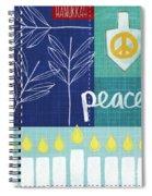 Hanukkah Peace Spiral Notebook