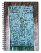 Headstone Abstract Spiral Notebook