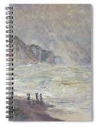 Heavy Sea At Pourville Spiral Notebook