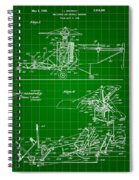 Helicopter Patent 1940 - Green Spiral Notebook