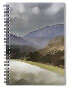 Highway Running Through The Wilderness Of The Scottish Highlands Spiral Notebook