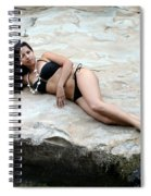 Hispanic Woman Waterfall Spiral Notebook