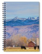 Hot Air Balloon Rocky Mountain Country View Spiral Notebook