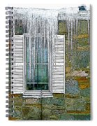 Ice By The Window Spiral Notebook