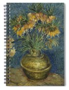 Imperial Fritillaries In A Copper Vase Spiral Notebook