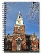 Independence Hall In Philadelphia Spiral Notebook