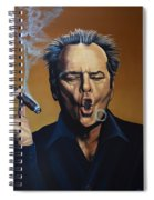 Jack Nicholson Painting Spiral Notebook