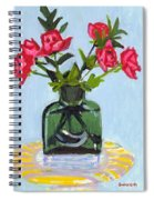 Jeff's Vase And Rodger's Roses Spiral Notebook