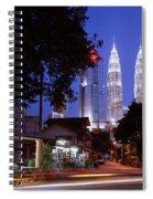 Kampung Baru Nightfall Spiral Notebook