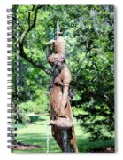 Lady At The Fountain Spiral Notebook