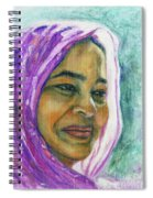 Lady From Bangladesh Spiral Notebook
