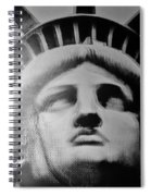 Lady Liberty In Black And White Spiral Notebook