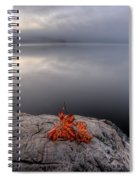 Lake In Autumn Sunrise Reflection Spiral Notebook