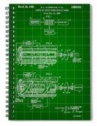 Laser Patent 1958 - Green Spiral Notebook