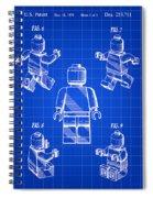 Lego Figure Patent 1979 - Blue Spiral Notebook