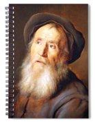 Lievens' Bearded Man With A Beret Spiral Notebook